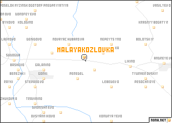 map of Malaya Kozlovka