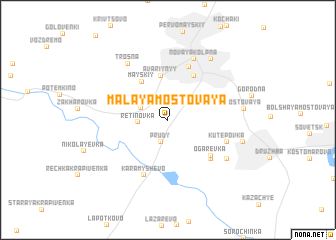 map of Malaya Mostovaya