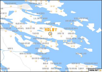 map of Mälby