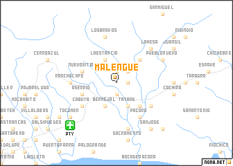 map of Malengue