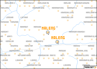 map of Ma-leng