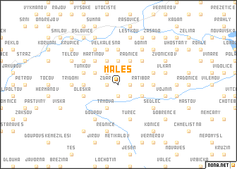 map of Maleš