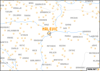 map of Malević