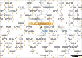 map of Malé Žernoseky