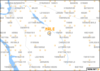 map of Male