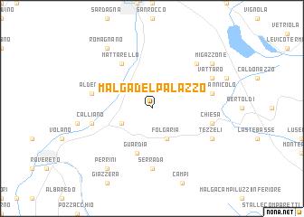 map of Malga del Palazzo