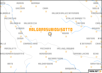 map of Malga Pasubio di Sotto