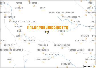 map of Malga Pasubio di Sotto