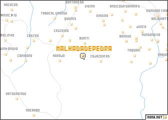 map of Malhada de Pedra