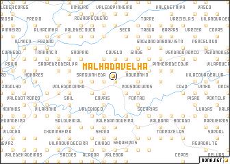 map of Malhada Velha