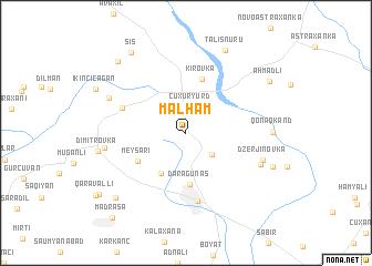 map of Mǝlhǝm