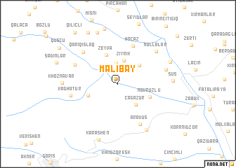 map of Malıbǝy