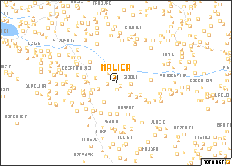 map of Malića