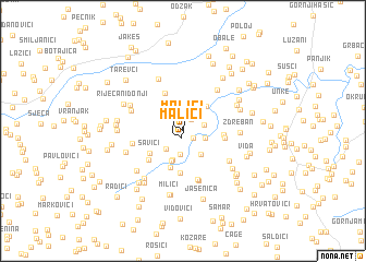 map of Malići