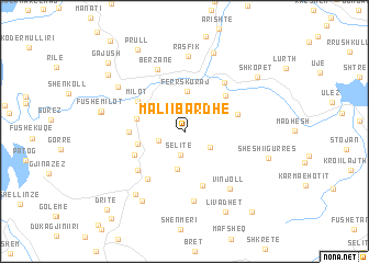 map of Mali i Bardhë