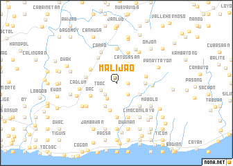 map of Malijao
