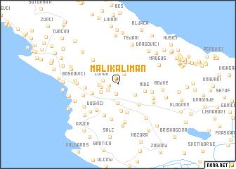 map of Mali Kaliman