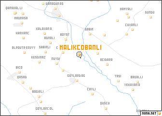 map of Mǝlikçobanlı