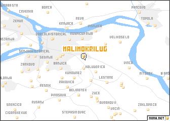 mali mokri lug mapa Mali Mokri Lug (Serbia and Montenegro) map   nona.net mali mokri lug mapa