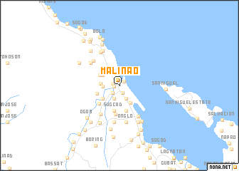 map of Malinao