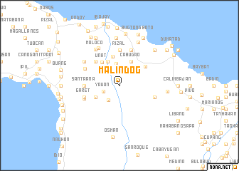 map of Malindog
