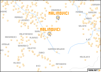 map of Malinovići