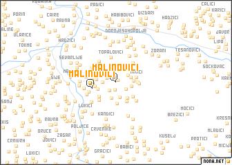 map of Malinovići