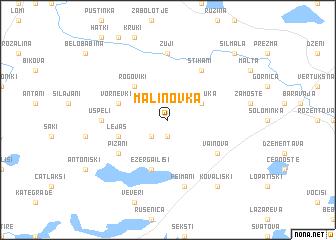 map of Maļinovka