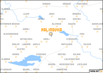 map of Maļinovka