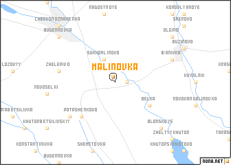 map of Malinovka