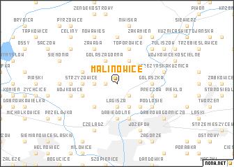 map of Malinowice