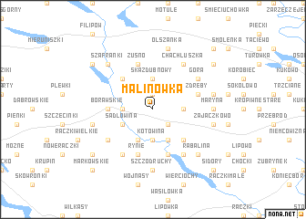 map of Malinówka