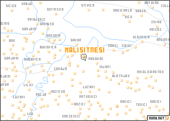 map of Mali Sitneši