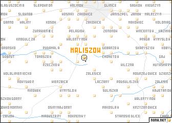 map of Maliszów
