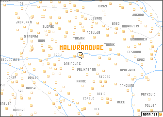 map of Mali Vranovac