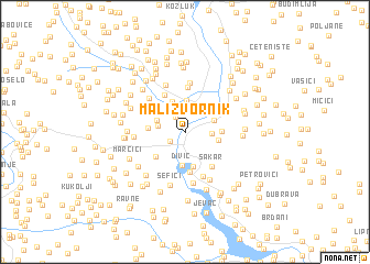 map of Mali Zvornik
