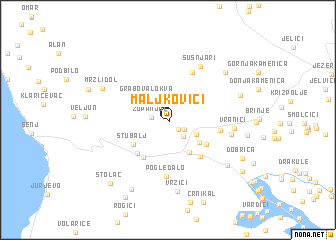 map of Maljkovići