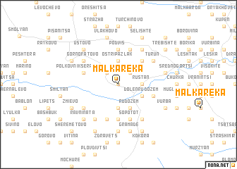 map of Malka Reka