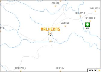 map of Malkerns
