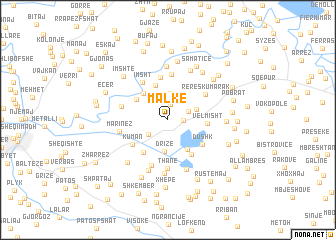 map of Malkë