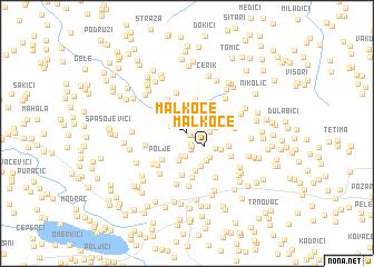 map of Malkoče