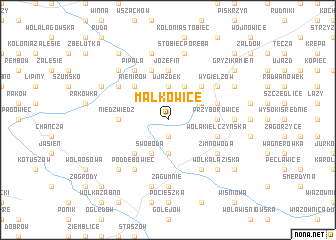 map of Malkowice
