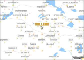 map of Mållebo