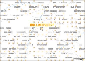 map of Mallmersdorf
