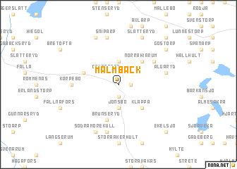 map of Malmbäck