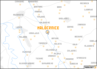 map of Malo Crniće