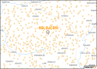map of Malojčani