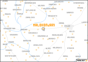 map of Malo Konjari