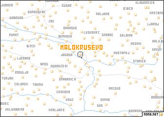 map of Malo Kruševo