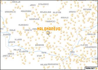 map of Malo Marevo